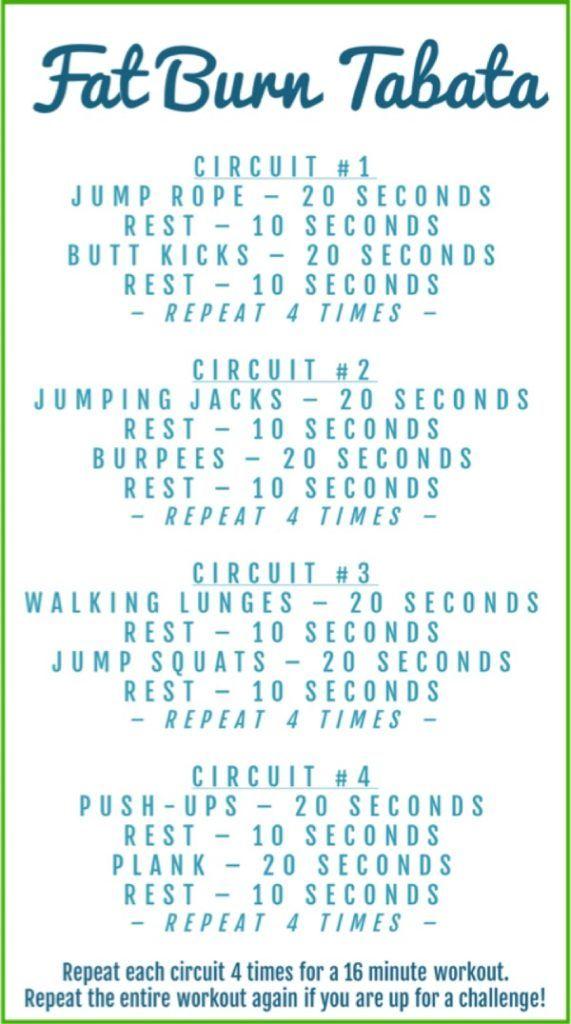 Fat Burn Tabata Workout