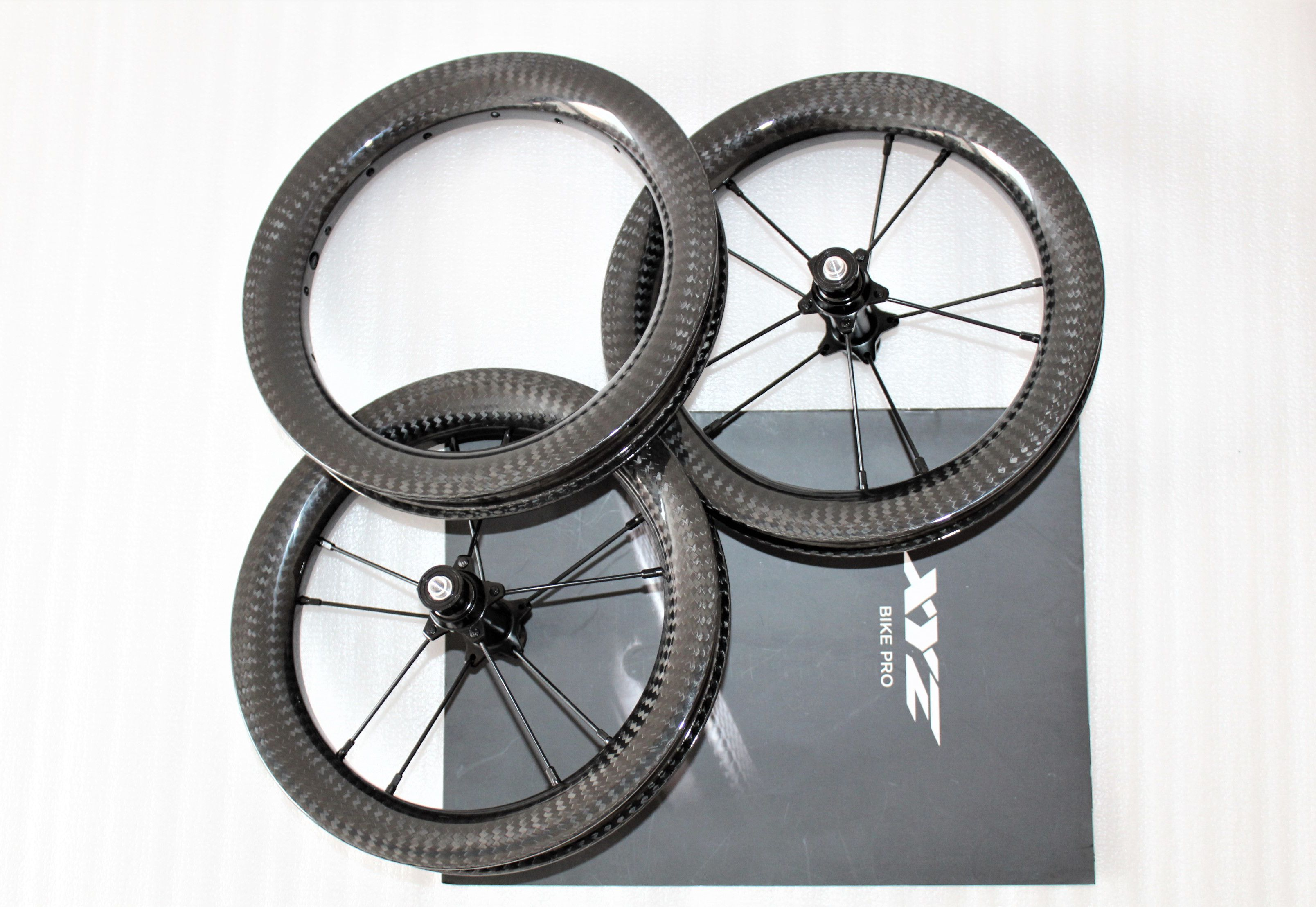 Custom 20 21 24mm Internal Rim Width 12inch Carbon Fiber Balance Bicycle Wheels For Push Bike Push Bikes Balance Bicycle Bicycle Wheels