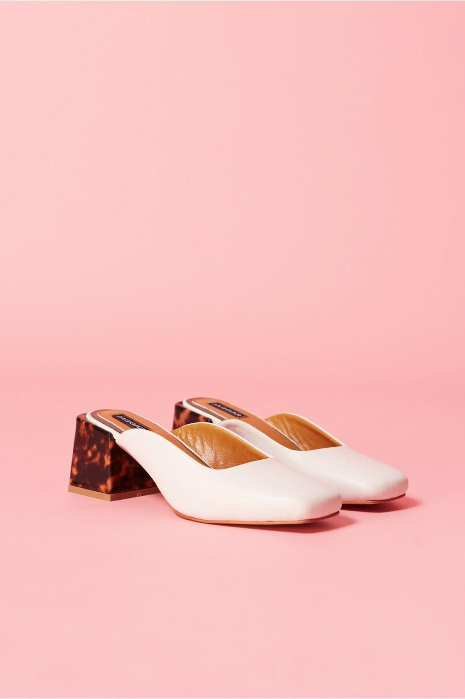 79b0b7ed9 Image result for JAGGAR Women s Pulse Square Toe Mid-Heel Leather Mules
