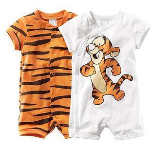 Free Shipping Baby Boys Girls Short Sleeve Cartoon Tiger Infant Romers Newborn…