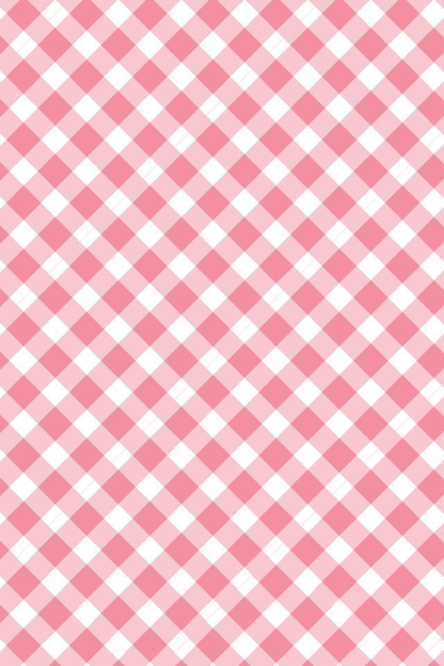 シンプルなピンクのチェック模様… | iPhone壁紙ギャラリー