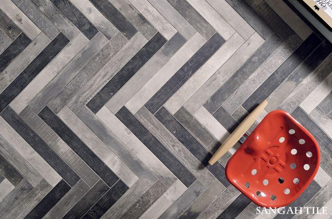 Tile - CHEVRONCHIC 7.7x65 by / FIORANESE  기존의 우드타일에 빈티함이 더해진 제품으로 작은 사이즈에 담겨있는 우드의 느낌이 디테일에게 표현된 타일입니다. #tile #interior #sangahtile #woodtile #red #floor #herringbone #vintage #타일 #상아타일 #바닥타일 #우드타일 #빈티지 #의자