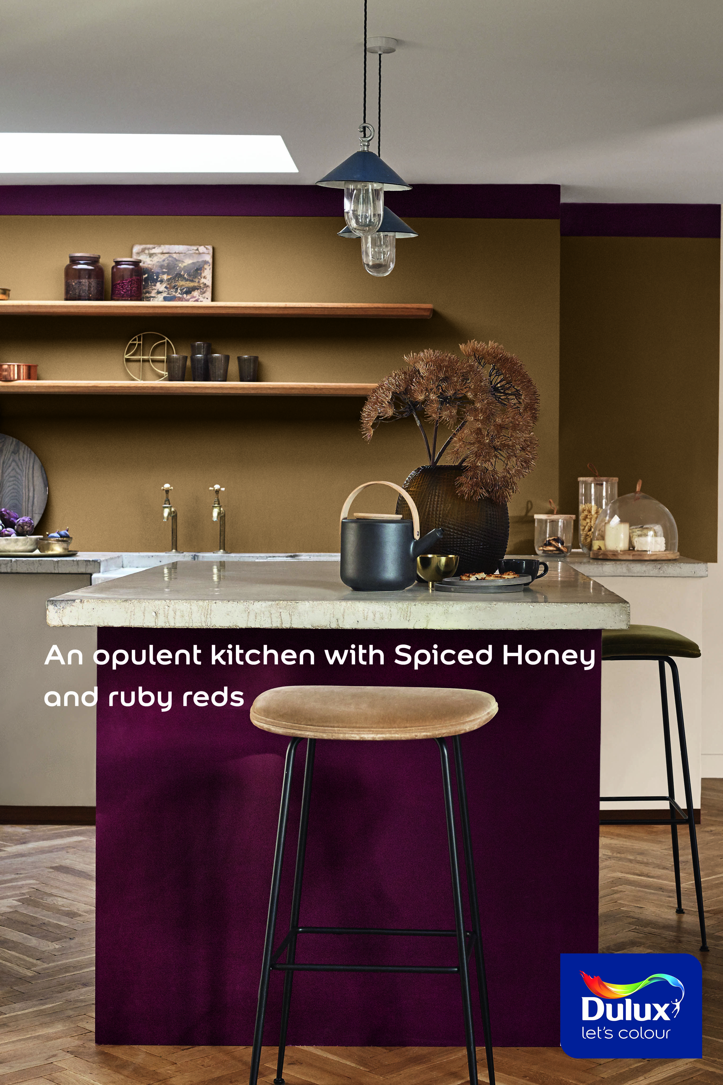 Dulux Spiced Honey Colour of the Year 2019 creates an opulent