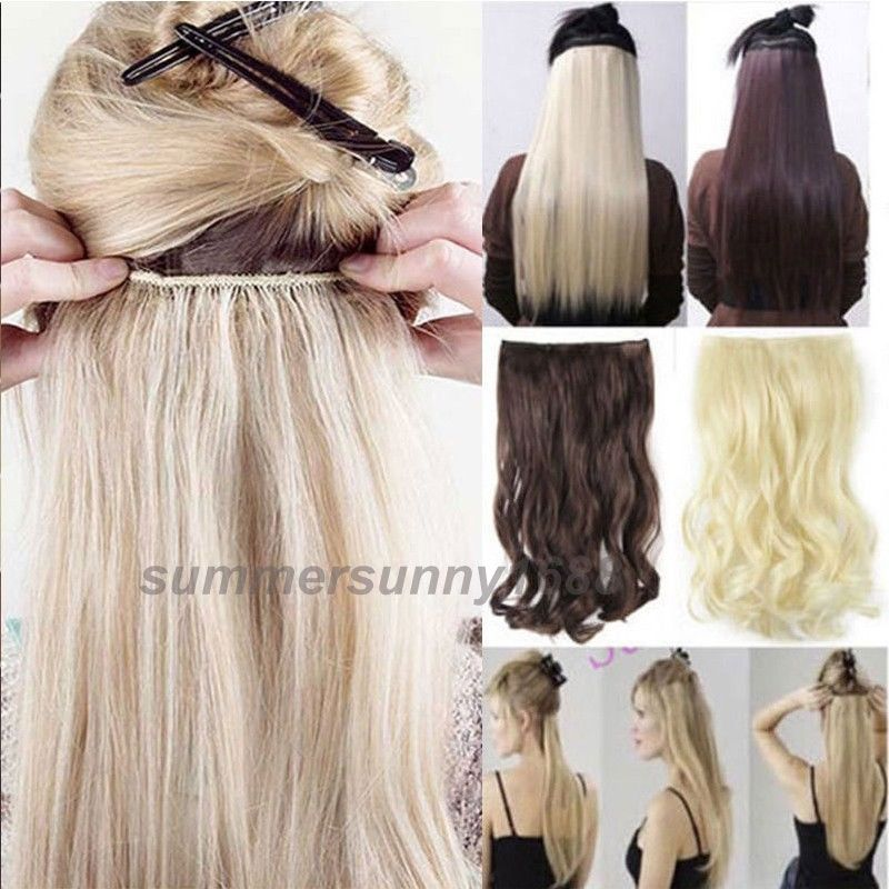 68cm 100 Real Thick 200g Maga Long Hairpiece Full Head Clip In Hair