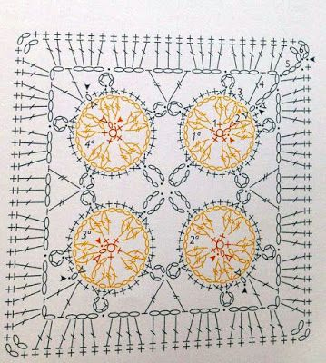 Weaving Arts in Crochet: Squares Lindos with charts!