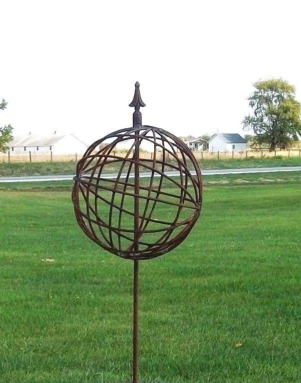Metal Garden Yard Art Balls Spheres