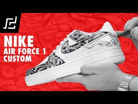 5da8d23c570a5 NIKE AIR FORCE 1 CUSTOM USING SHARPIE! - YouTube | Sole Connection ...
