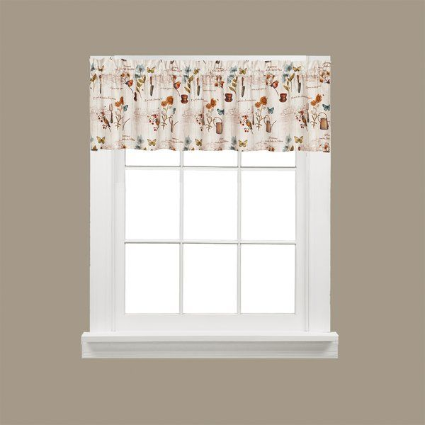 "Cafe Jardin Decorative Mat: Ellis 54"" Ruffled Filler Curtain Valance"