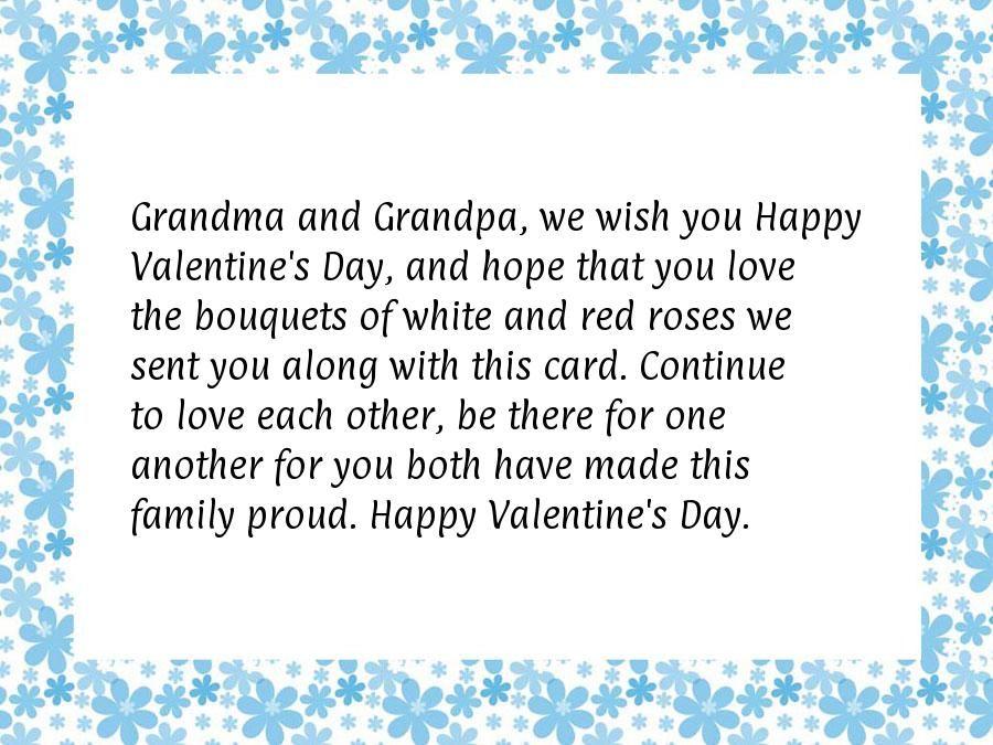 Valentines Day Quotes For Grandma: Grandma And Grandpa, We Wish You Happy Valentine's Day