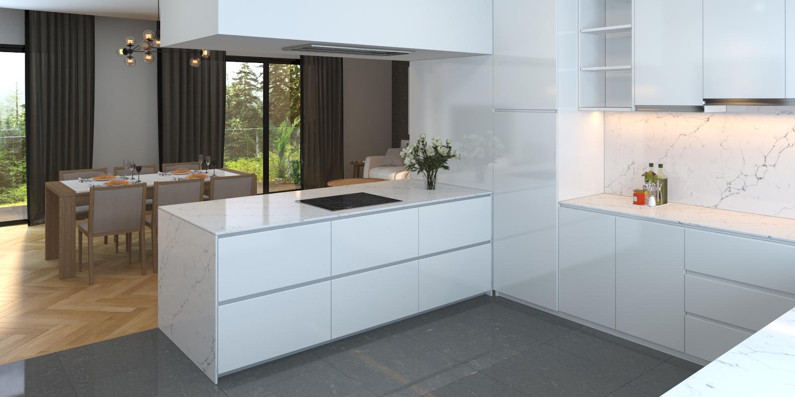 BQ8660 - Venatino #Vicostone #Quartz #Countertops #interiordesigns ...