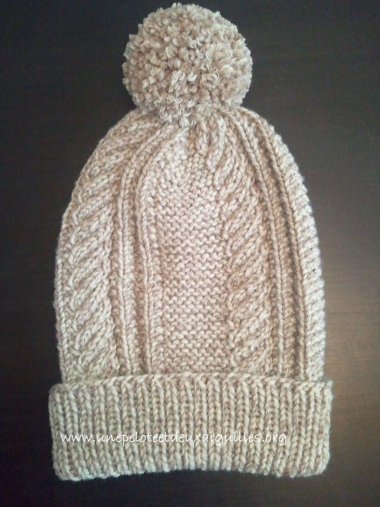 tricoter un bonnet 12 ans