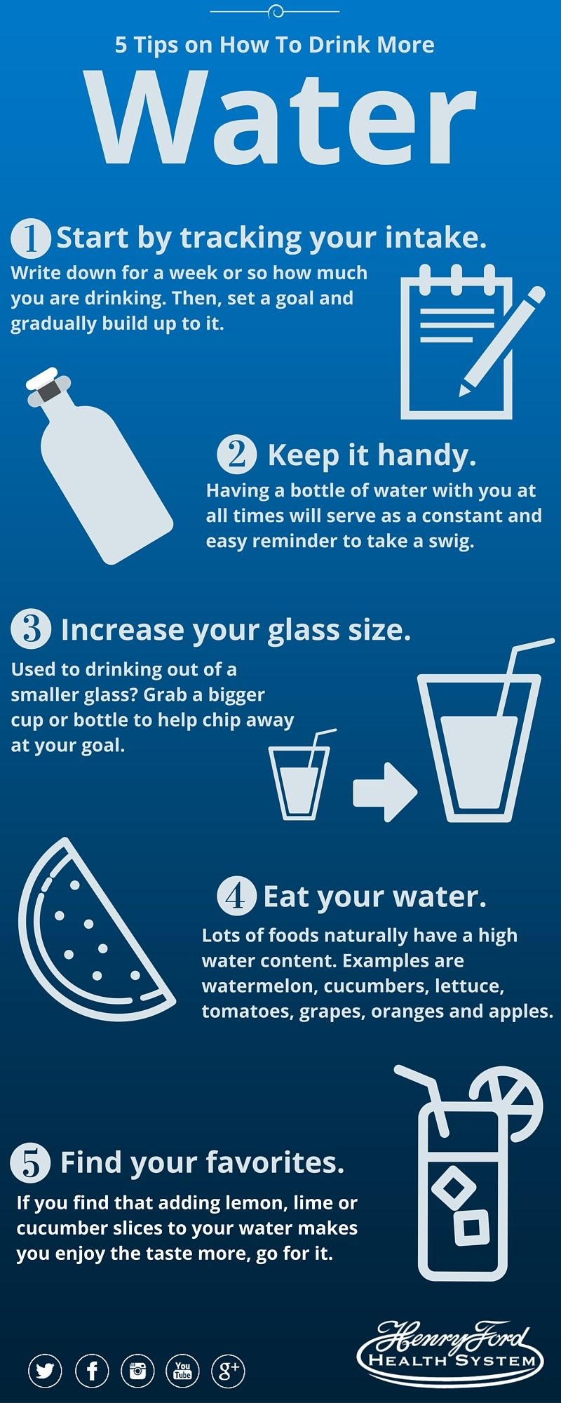 How to take water