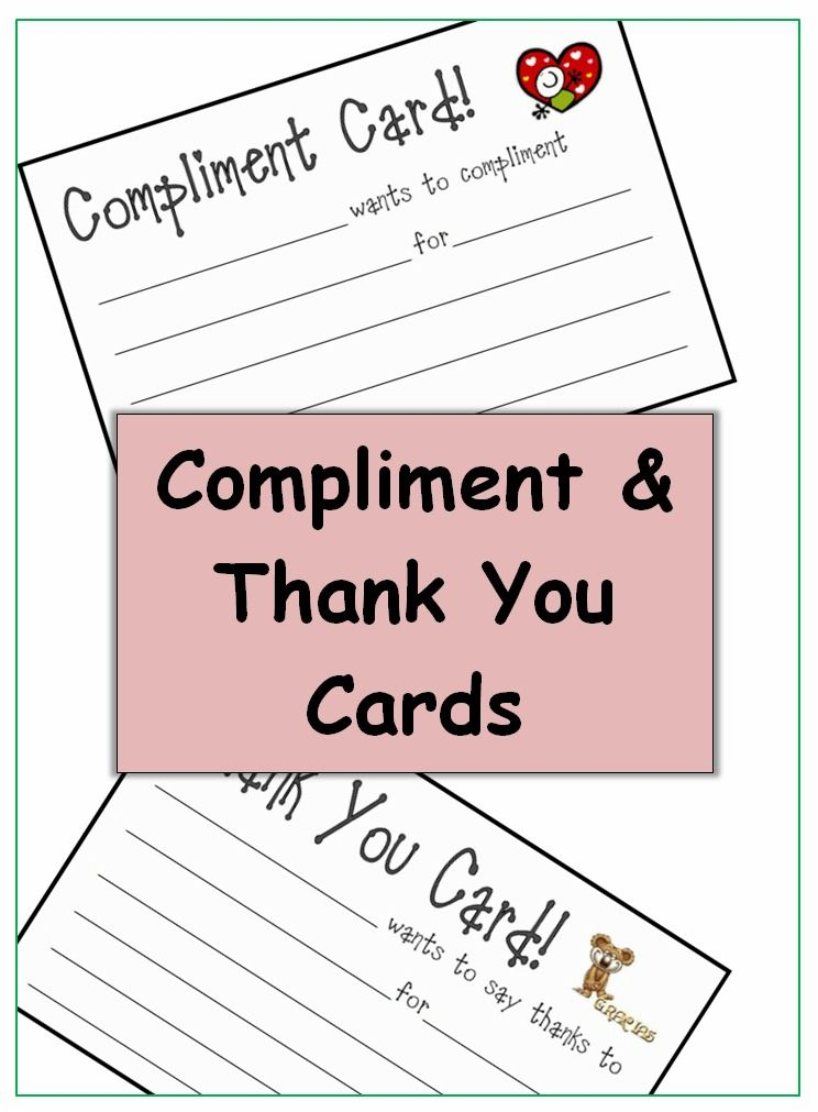 student to student compliment and thank you cards school