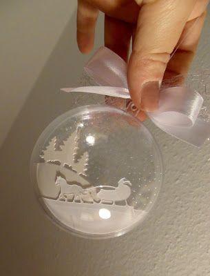 #weihnachtsdekoimglasmitkugeln