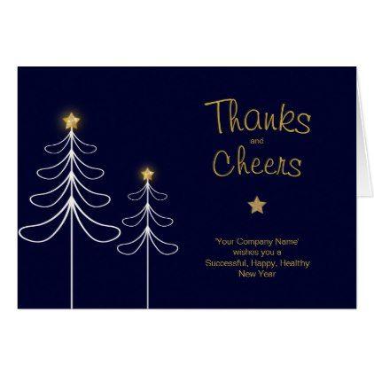 Company Christmas Thank You Cards Custom Blue  Xmas Christmaseve