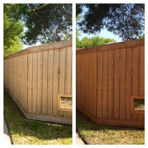 Quick Fence Facelift Backyard Backyard Patio Backyard Landscaping