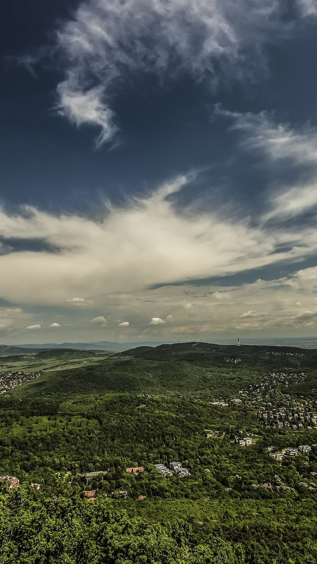 Mountain Green Wood City Sky Cloud Blue Summer iPhone 8