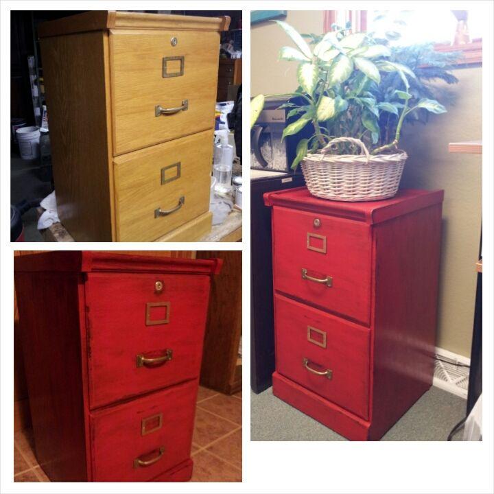 Wood File Cabinet Makeover, Wooden File Cabinet Makeover