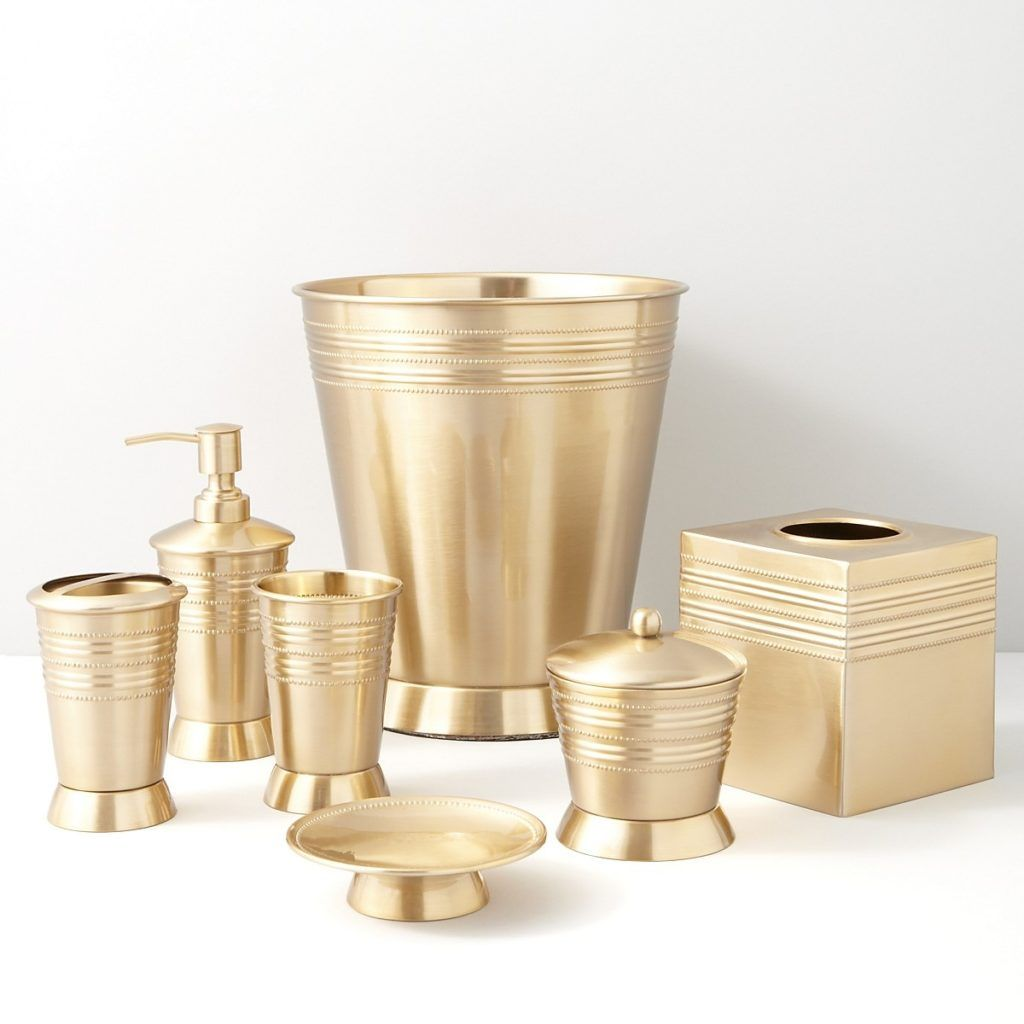 Gold Crackle Bathroom Accessories