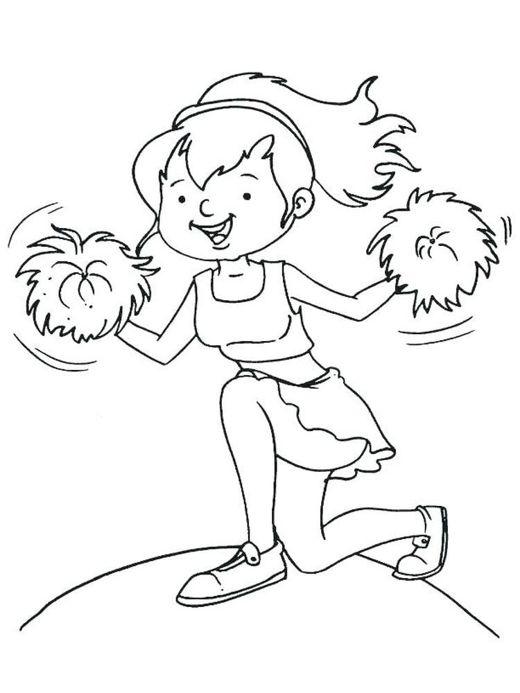 Monster High Cheerleader Coloring Pages Cheerleader Is A Group Of