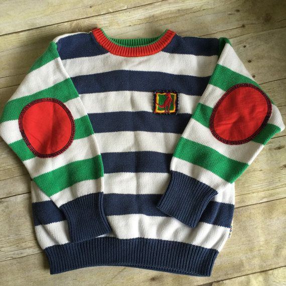 Vintage Children's Sweater - pullover - vintage Size Large 6/8 size 10 - Dinosaur Sweater - Gymboree - Hipster