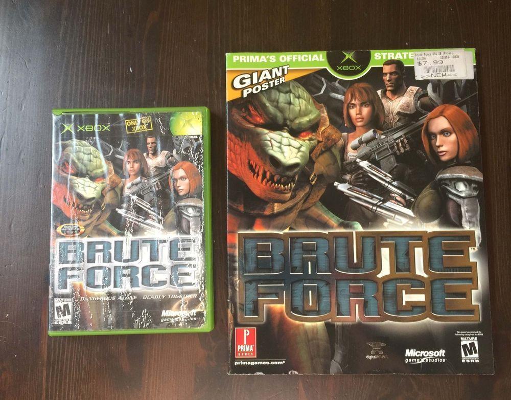 BRUTE FORCE XBOX COMPLETE GAME & PRIMA GUIDE Games, Xbox