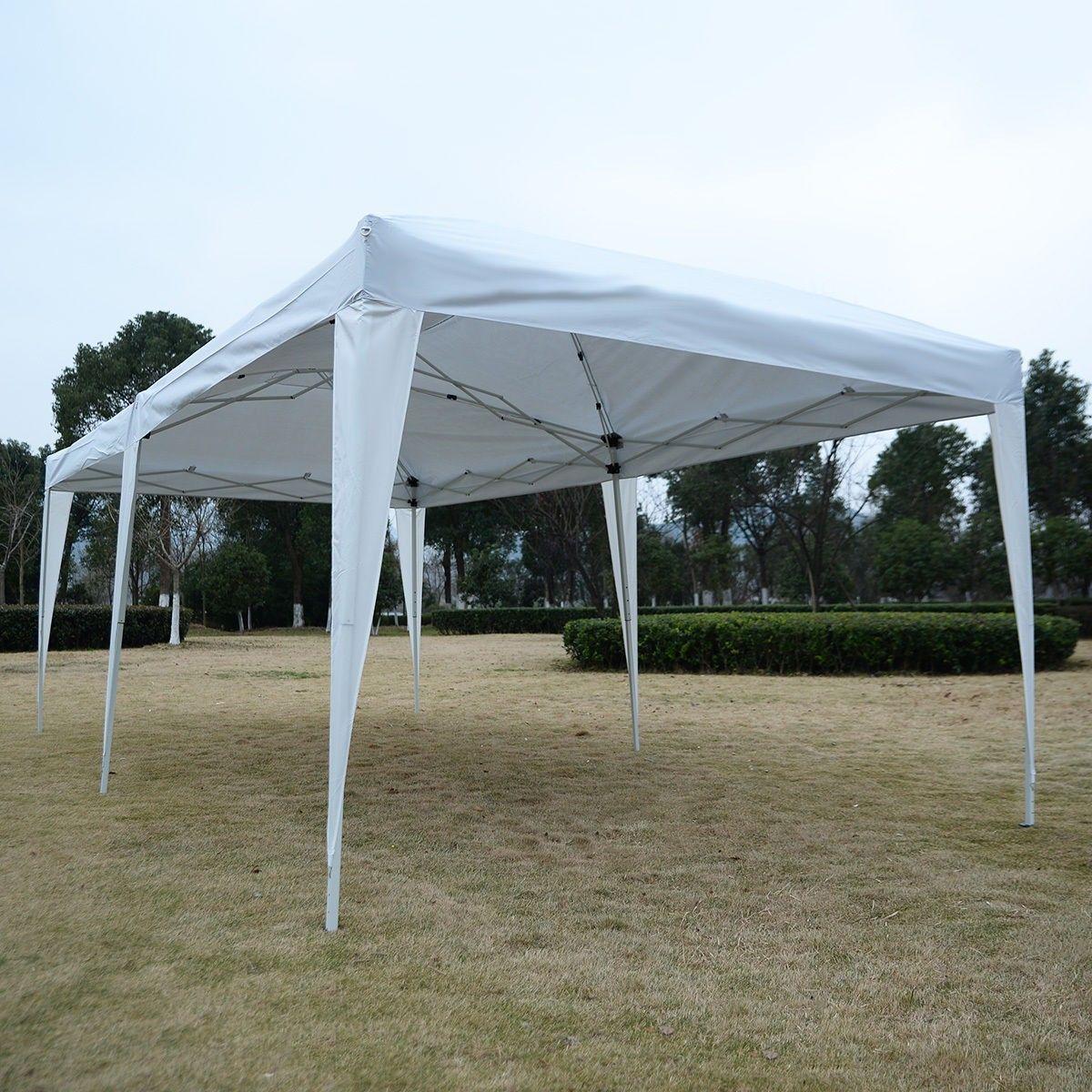 10 X 20 Ez Pop Up Folding Wedding Party Tent Cross Bar Party Tent Tent Wedding Arches Outdoors