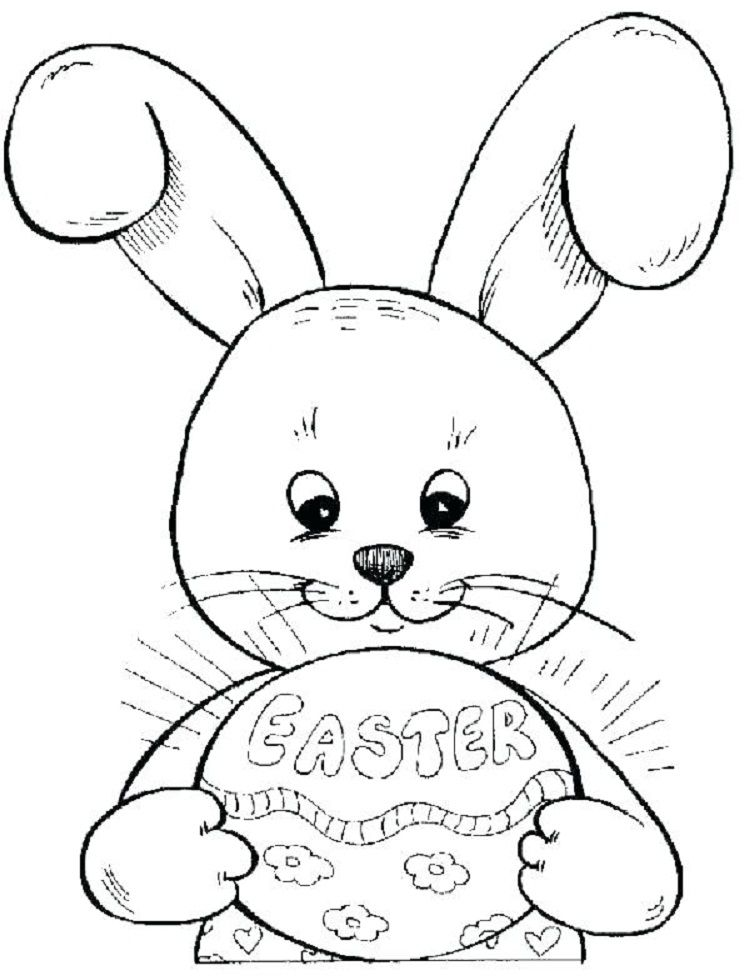 Baby Bunny Easter Coloring Pages
