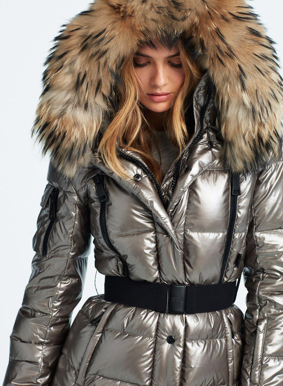Millennium Gunmetal Hooded Winter Coat Puffer Jacket Women Fashion [ 1633 x 1200 Pixel ]
