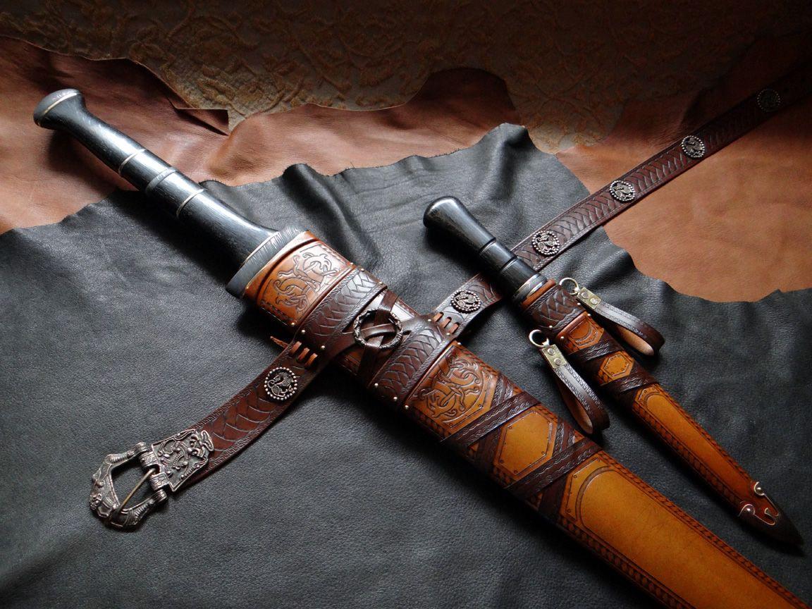Custom DBK Scabbard Work For A Pair Of Fantasy Blades