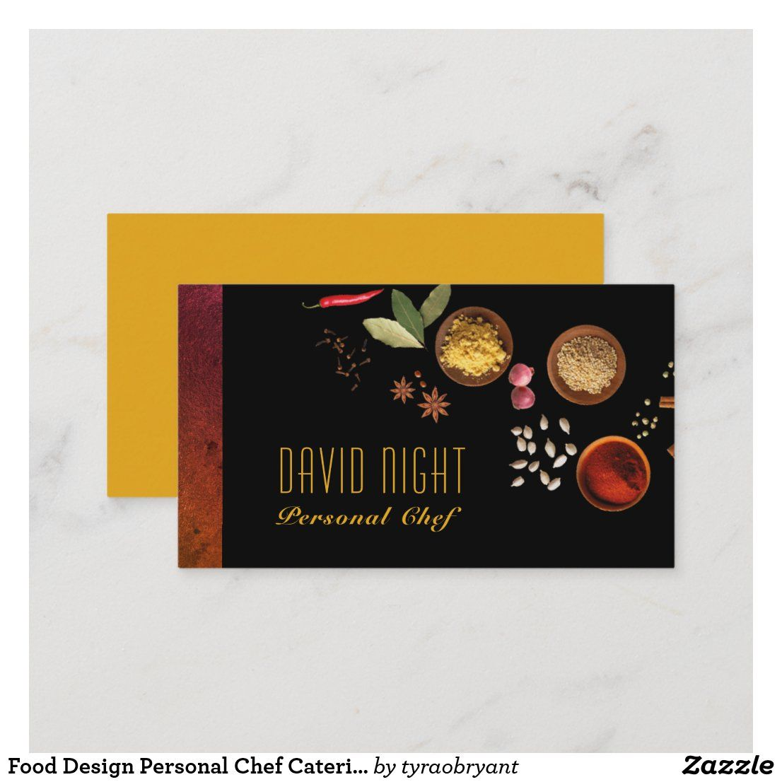 Food Design Personal Chef Catering Business Card Zazzle