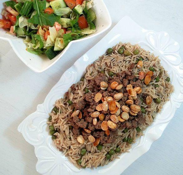 طريقة عمل أرز بالبسلة و اللحم المفروم بيتي مملكتي وصفات أرز بسلة مطبخ Rice