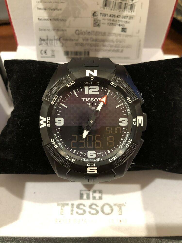 Tissot Men S T Touch Expert Solar Ref T091 420 057 01 Tissot Mens Watch Tissot Mens Titanium Watches