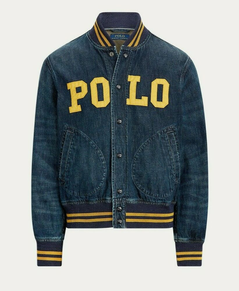 Polo Ralph Lauren Rugby Genuine Leather Varsity Jacket