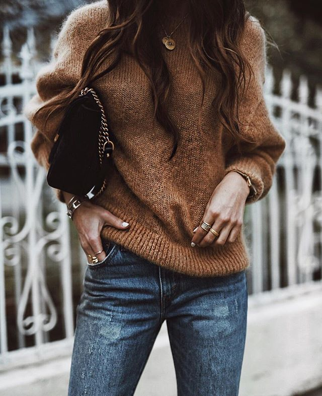 Rainy days call for oversized sweaters and boyfriend jeans. #NYStandard