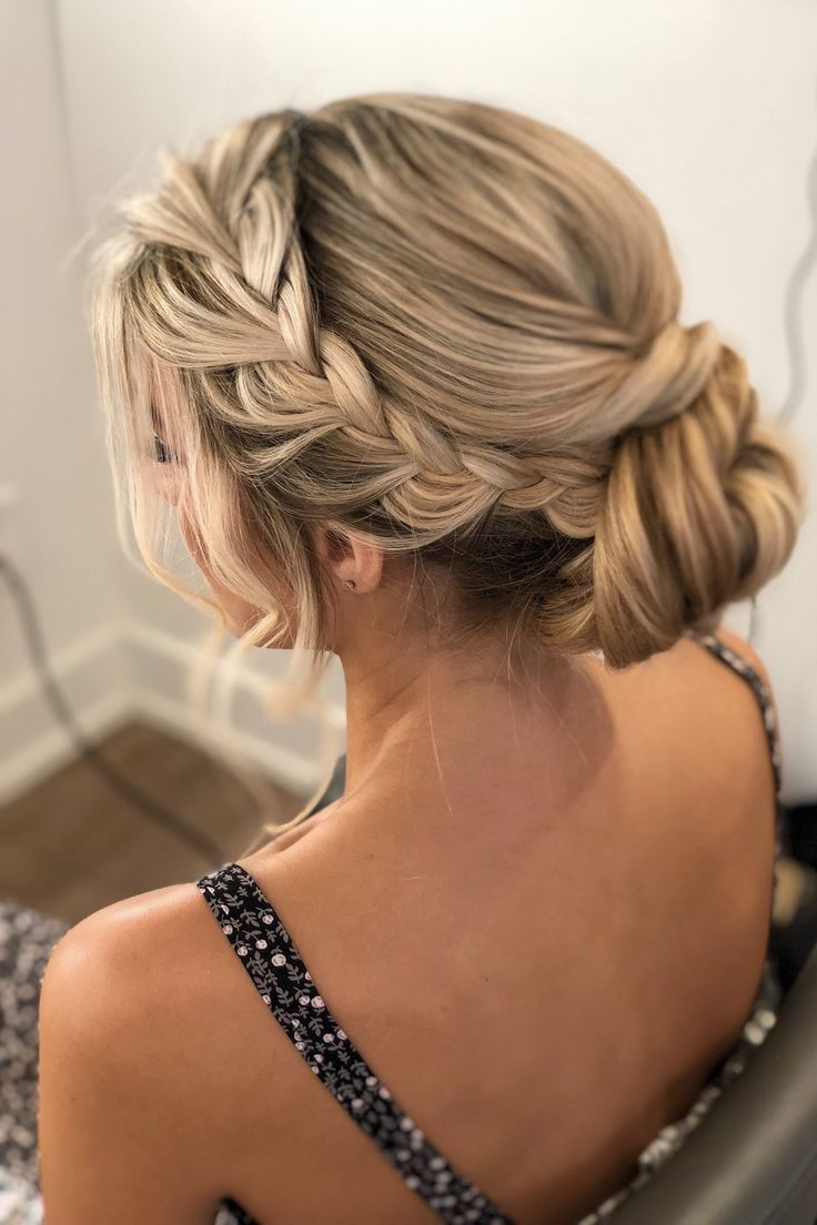 Get Ready For Prom Weddings With This Formal Braided Updo Hairstyle Hai Formal Hairstyles For Long Hair Homecoming Hairstyles Updos Braided Hairstyles Updo