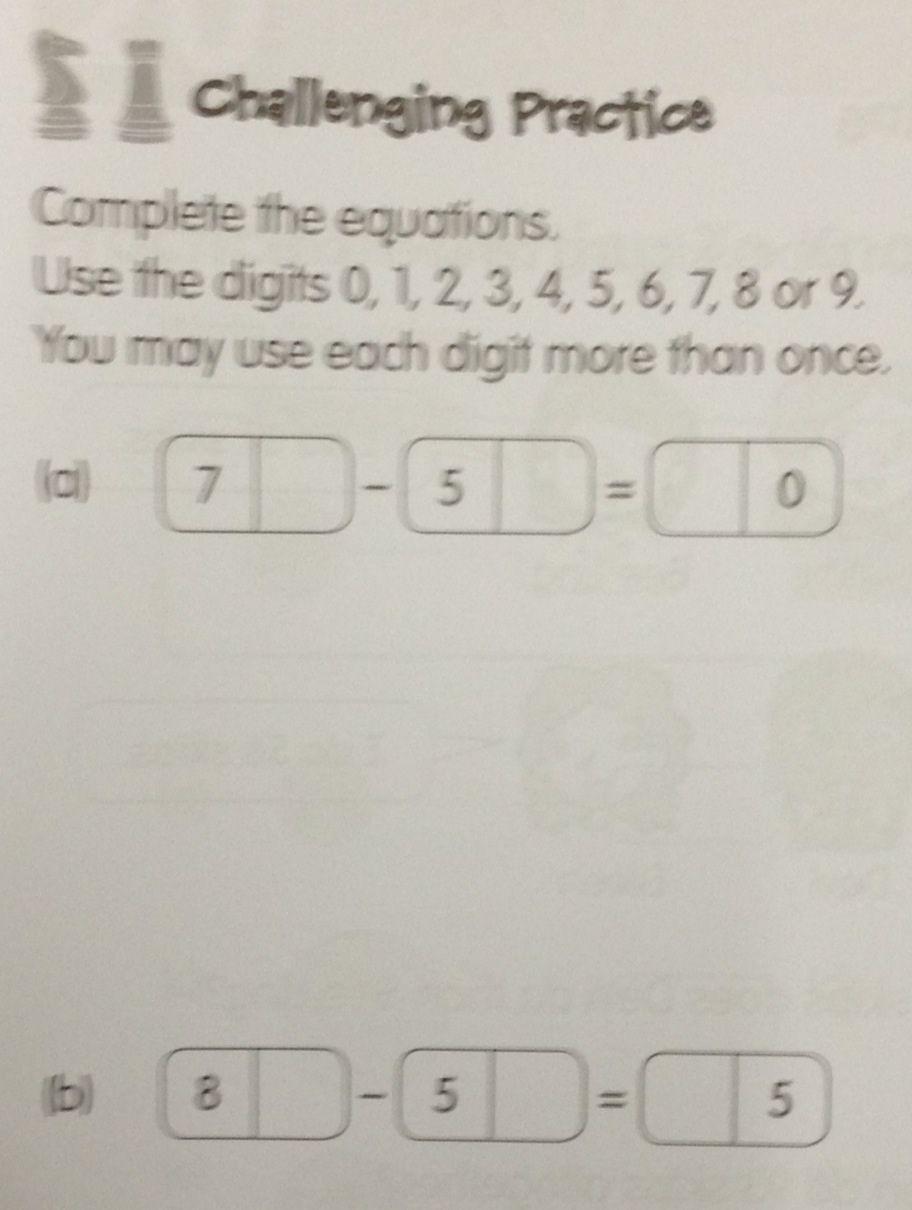 A grade 1 question under