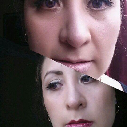 2 tonos de labial mismos ojos