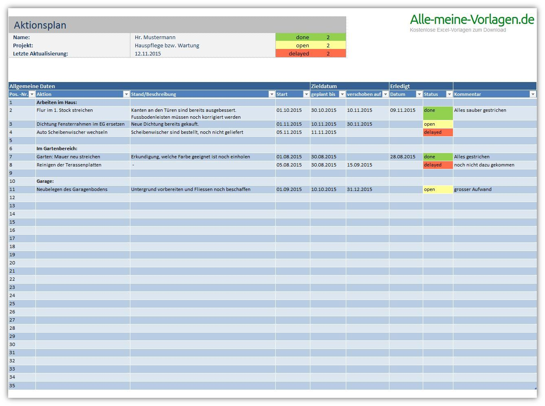 Todo Liste Excel Vorlage Projektmanagement Planer