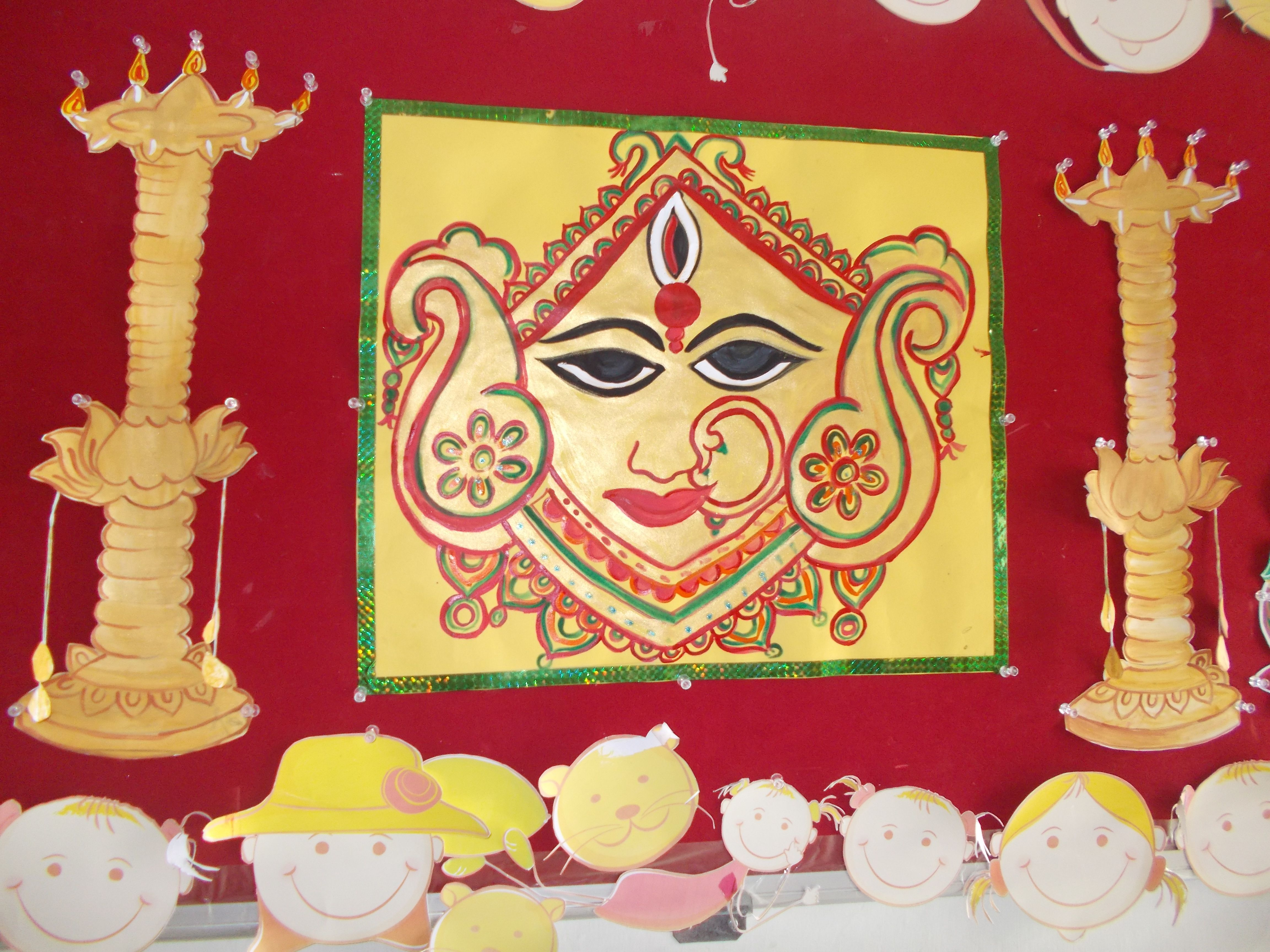 Durga Navratri Decoration Preschool Decoration Preschool Decor