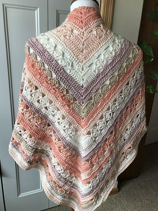 Lunar Crossings Shawl Free Crochet Pattern | Free Crochet Patterns ...