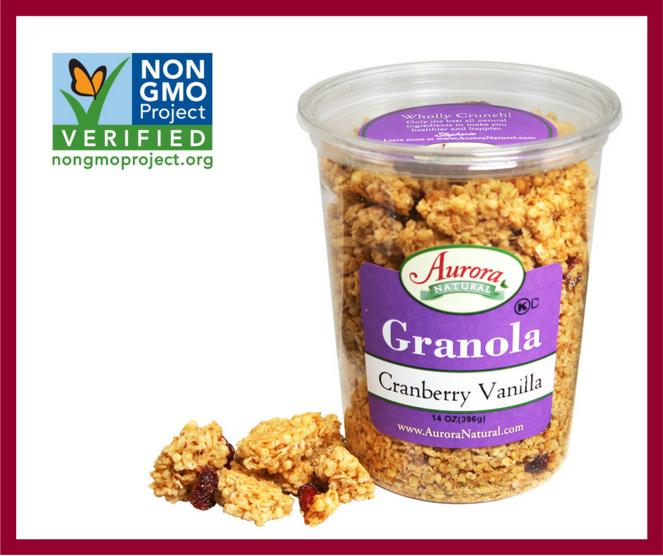 Cranberry Vanilla Granola is now GMO-Free! It's the perfect addition to your autumn Sunday brunch.