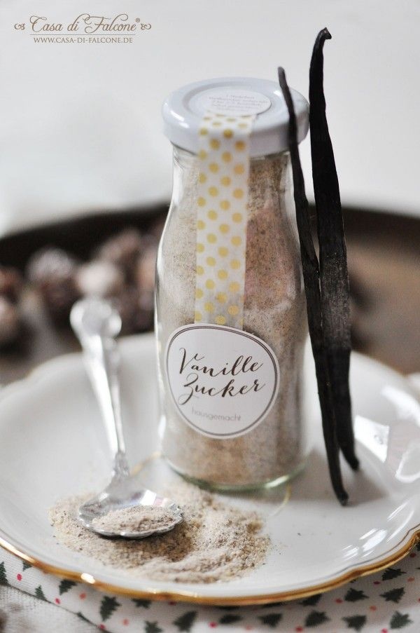 Rezept & Verpackungsidee für Vanillezucker | Kleine glasflaschen ...
