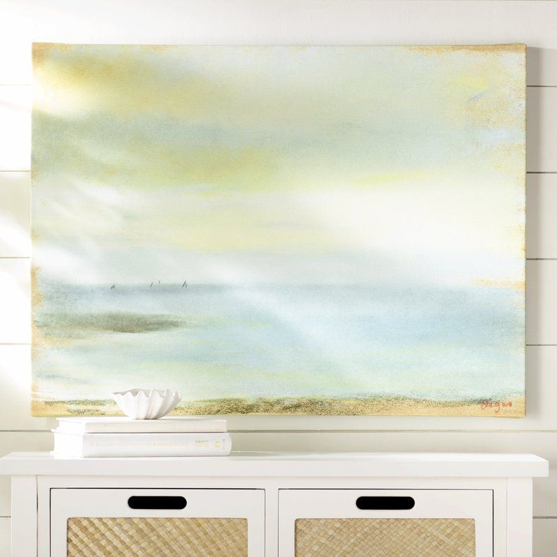 Marine Sunset By Edgar Degas Framed On Canvas Reviews Birch Lane