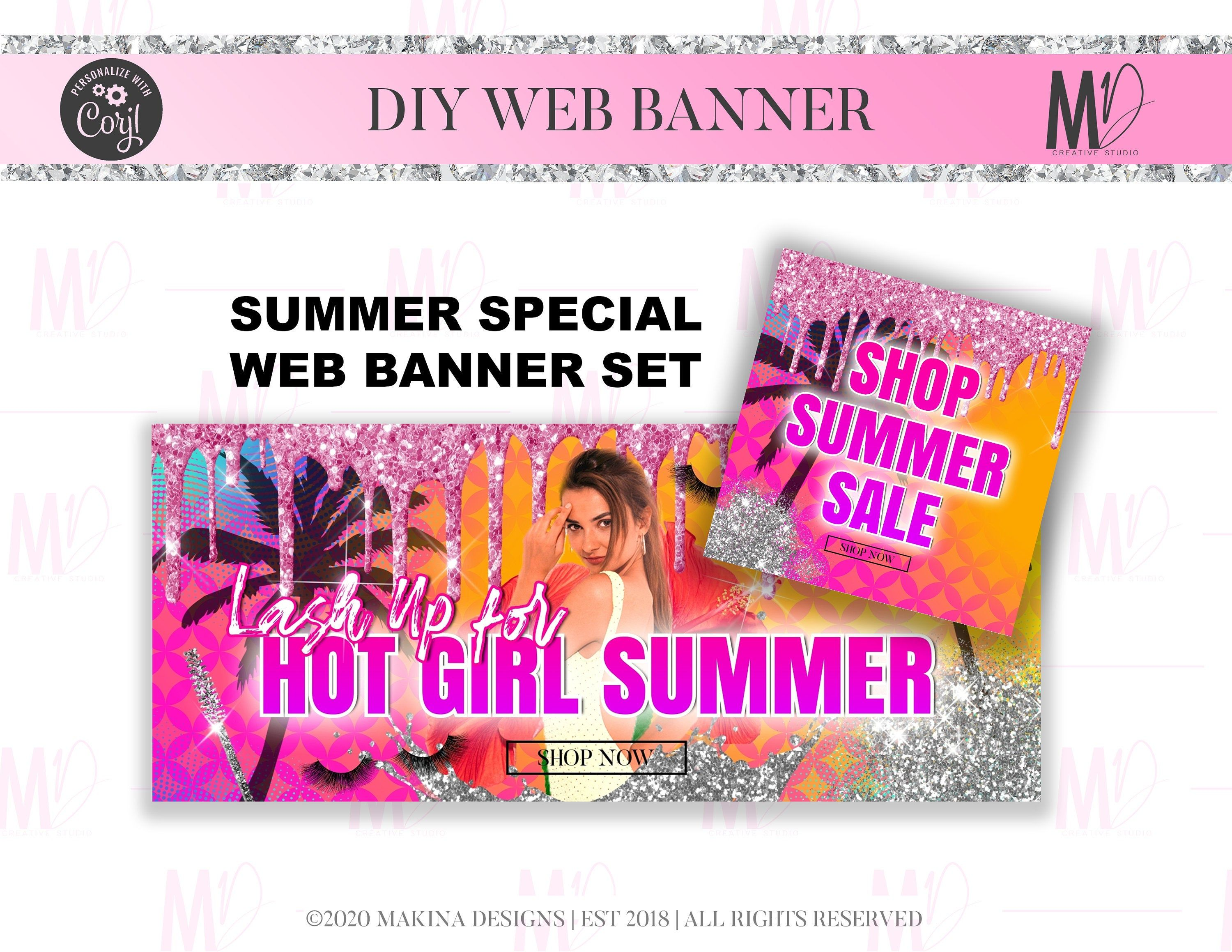 DIY WEB BANNER summer special lashes beauty makeup instant