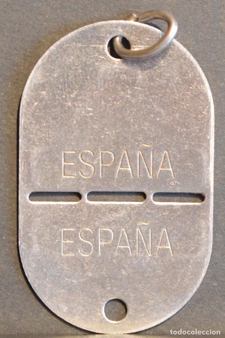 PLACA IDENTIFICACION EJERCITO ESPAÑA