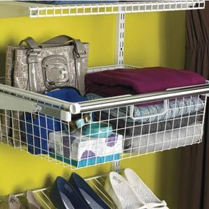 Sliding Wire Baskets Rubbermaid Can Be Used In Coat Closet For Shoes