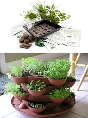 Garden Stacker + The Indoor Culinary Herb Garden