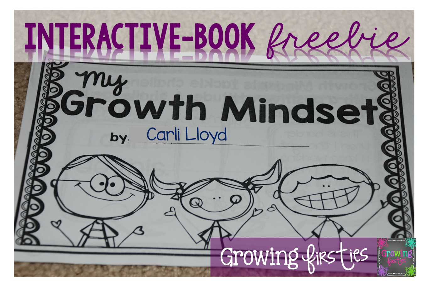 Growth Mindset Interactive Book Freebie