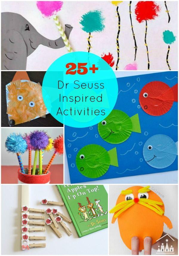 25 dr seuss activities for kids fine motor birthdays for Dr seuss crafts for preschool